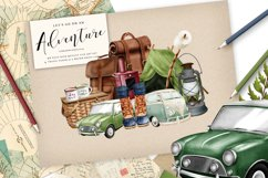 Camping Adventure Clipart and Papers Product Image 5