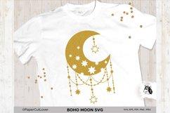 Boho Moon SVG Crescent Moon SVG Half Moon Svg Product Image 2