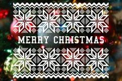 Merry Christmas SVG, Christmas card template PNG, JPG Product Image 3