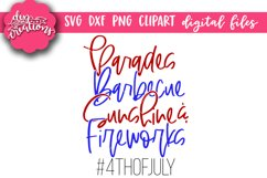 Parades BBQ Sunshine & Fireworks - 4th of July SVG DXF PNG Product Image 2