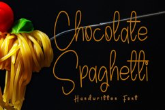 Chocolate Spaghetti   A Handwritten Font Product Image 1