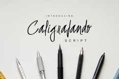 Caligrafando Script Product Image 1