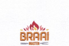 Braai BBQ Master Flamed Embroidery Download Design Product Image 2