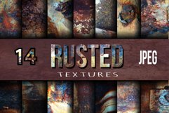 14 Rusted textures set. Product Image 1