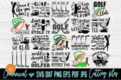 Golf SVG Bundle, Golfing Svg, Golfer Svg Quotes Cut Files Product Image 1