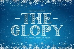 Web Font The Glopy Product Image 1