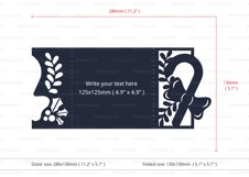 Christmas Candy Cane Invitation cutting file Product Image 5