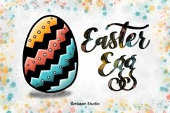 Easter egg png, easter clipart, Cute easter egg clipart, png Product Image 1