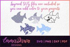 SAMMY THE SHARK SVG MANDALA / ZENTANGLE DESIGN Product Image 2
