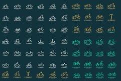 Set of Bicycle logo design Product Image 1