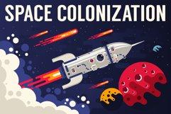 Space Flat Illustration Product Image 2