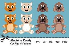 Cat and Dog Bundle SVG Cut Files, pet clipart Product Image 1