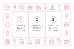 Line Icons - Dessert Product Image 6