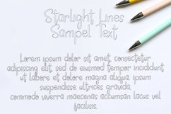 Starlight Lines - Beautiful Line Font Product Image 4