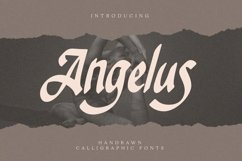 Web Font Angelus - Handrawn Calligraphic Font Product Image 1