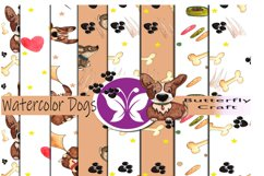 Dogs digital paper, Puppy Dog Papers, Brown Puppy Papers Product Image 1