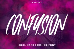 Confusion - Cool Handbrushed Font Product Image 1