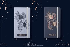 Magic Crescent moon and sun svg Yin yang Svg for kids design Product Image 3