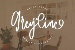 Web Font Greyline - Modern Stylish Font Product Image 1