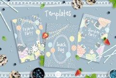 Cute Animals Pajama Party - Illustrations & Invitations Product Image 6