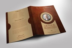 Leather Funeral Program Word Publisher Template 4 PAGES Product Image 3