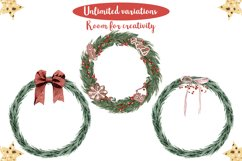 Rustic Christmas Watercolor DIY Set Hand painted Product Image 5