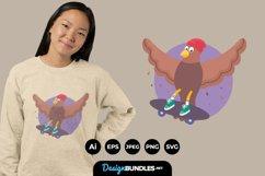 Pigeons Skateboarding for T-Shirt Design Product Image 1