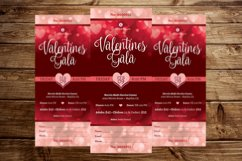 Red Hearts Valentines Gala Ticket Template Product Image 4