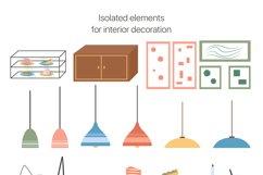 Modern Café Interiors vector illustration Product Image 5