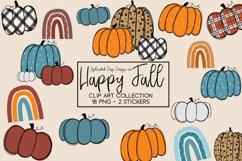 Happy Fall Clipart collection Product Image 1