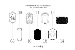 Love Potion Bottle Procreate Stamp Brush Product Image 4