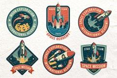 Space Rocket Retro Badge Product Image 3