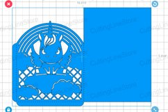 Unicorn invitation template, Svg files for cricut Product Image 3