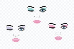 Make up svg Female Face Makeup Eyelashes Eyes Lips /3 Product Image 2