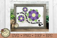 Flower SVG Bundle-Inspirational Words-Spring Flowers Bundle Product Image 8