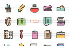 150 Office & Stationery Filled Line Icons Product Image 3