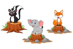 Cute Wild Animals Cartoon Bundle Product Image 2