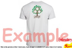 Family Tree Circle Embroidery Design Machine Instant Download Commercial Use digital Outline family love Frame Deep Roots Branches 207b Product Image 2