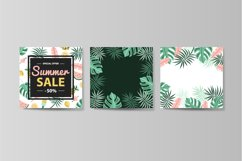 Vector summer set, 6 vector seamless pattern, 4 banners Product Image 6