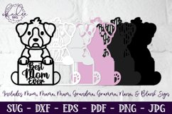 3D Mother's Day SVG, Puppies, Dogs, Father's Day, Mandala Product Image 3