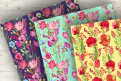 Tulips Seamless Patterns Watercolor Product Image 3