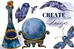 Magic, Occult, Witchcraft, Spiritual watercolor clipart set. Product Image 3