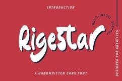 Web Font Rigestar - Handwritten Sans Font Product Image 1