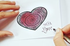 Decorated Hearts Silhouettes, Valentines svg, Mandala Product Image 3