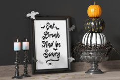 Spooky Halloween Dripping Script With Doodles Product Image 5