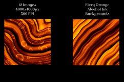 Fiery Orange Alcohol Ink Backgrounds - 12 Image Set Product Image 4