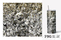 Skinny tumbler sublimation silver foil crush template Product Image 5