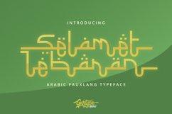 Selamet Lebaran - Arabic Fauxlang Font // Web Font Product Image 1