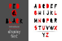 Red-and- Black OTF font Product Image 1