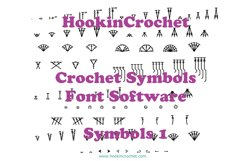 HookinCrochet Symbols 1 Font Software Product Image 1